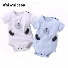 Купить с кэшбэком Newborn Baby  Summer Rompers Toddler Short Sleeve Jumpsuit  Baby Girls Boys Cotton Rompers Baby Clothing With Quality Assurance