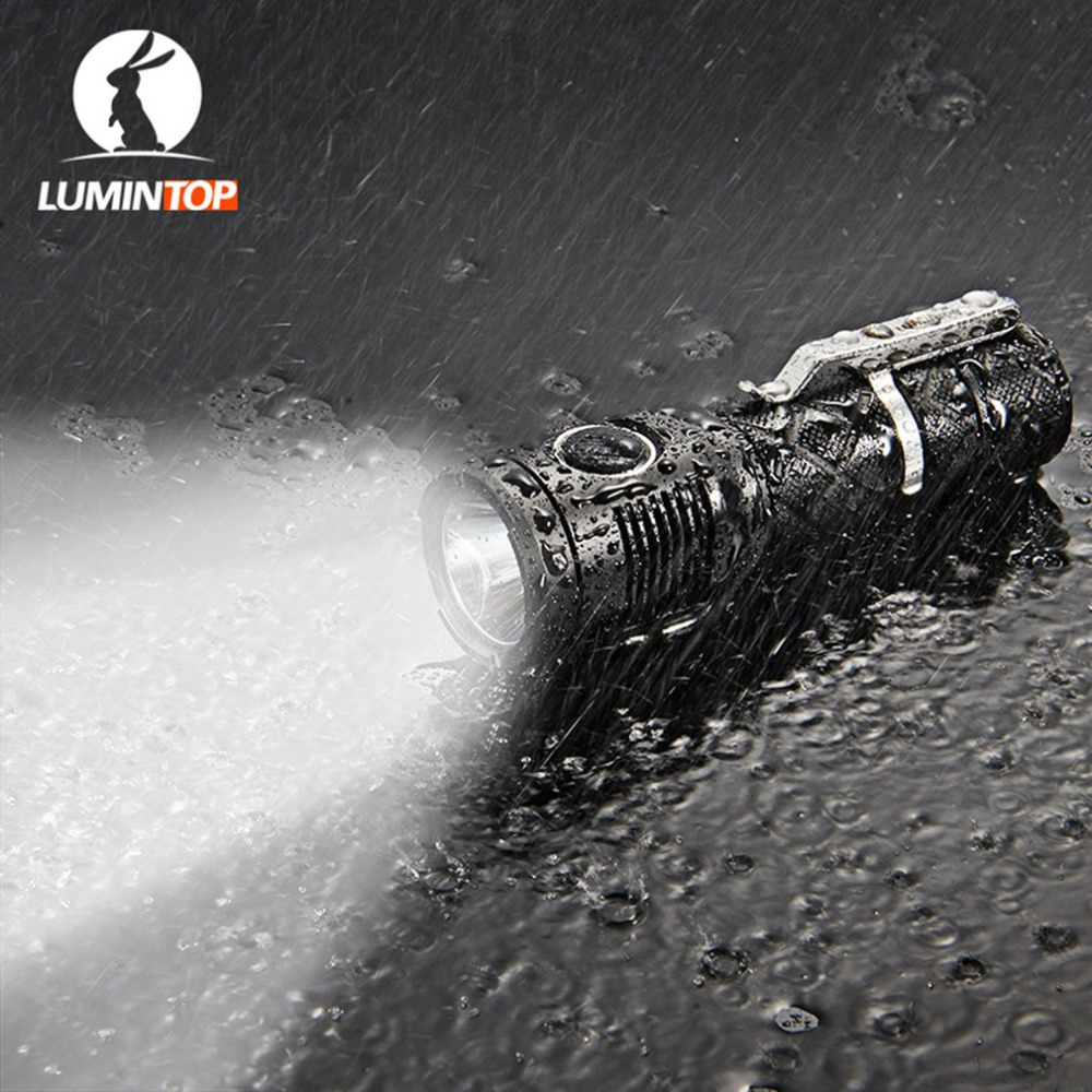 LUMINTOP SDMINI Max Output of 920 Lumens Micro-USB Interface Rechargeable Tactical Flashlight Cree XP-L HI LED lumintop rechargeable searching flashlight sd75 with 4pcs 18650 battery 4000 lumens cree xhp70 led free get lumintop px16
