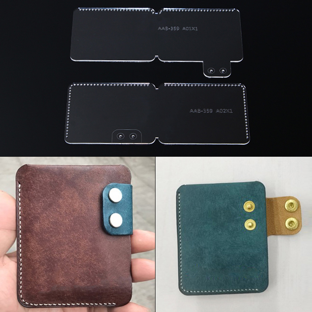 DIY Card Package Coin Purse Acrylic Template Pattern Drawing Handmade Leather Goods DIY Sewing For Leather Tools Access