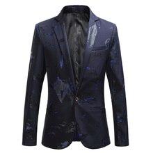 2019 fashion new men's casual boutique suit / Male print suit blazers jacket dress coat / large size M-6XL