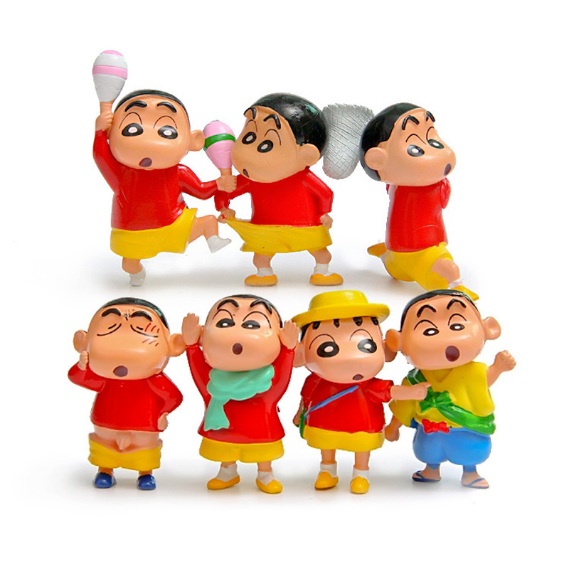 Toys & Hobbies 7pcs/lot Cute Anime Crayon Shin-chan Outdoor Spring Style Cute Pvc Action Figure Toys Doll Collectible Model Toy Gift For Kids Let Our Commodities Go To The World