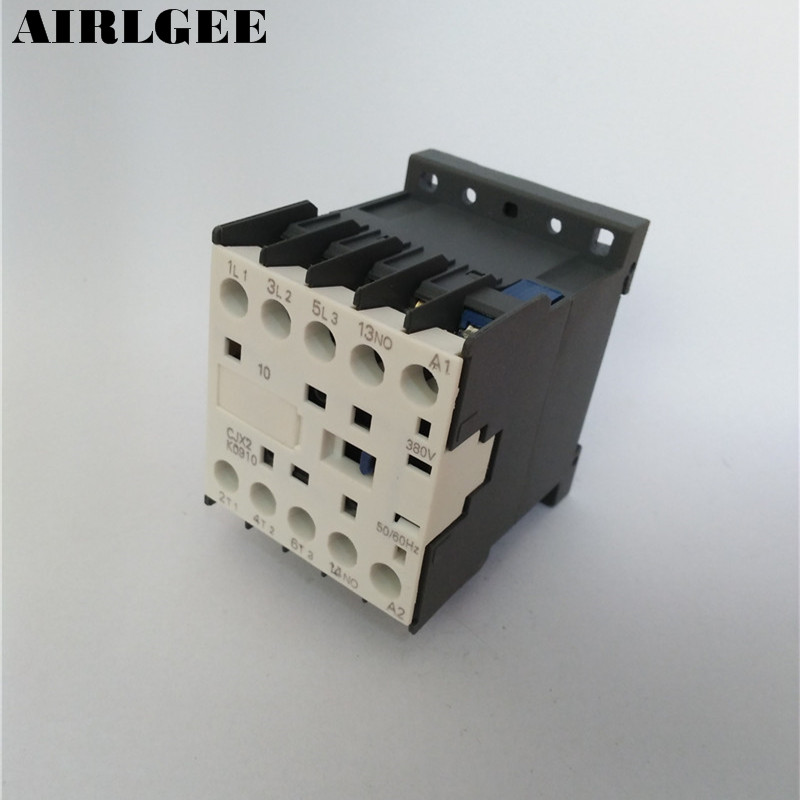 CJX2-K0910 380 Volts Coil 35mm DIN Rail 9A Three Pole 3P 1NO AC ContactorCJX2-K0910 380 Volts Coil 35mm DIN Rail 9A Three Pole 3P 1NO AC Contactor