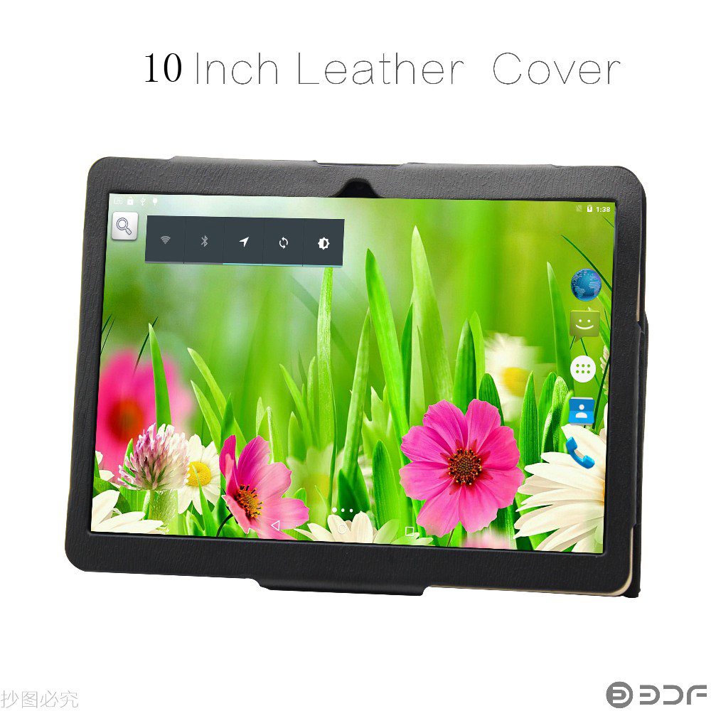 Wholesale android tablet 10 inch - The Black And White Color Leather Case For 10 Inch Tablet From Our Store Quad