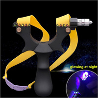 Powerful Black Light Sight Slingshot Outdoor Hunting Slingshot Plastic Catapult Flat Rubber Band Portable Durable Bow