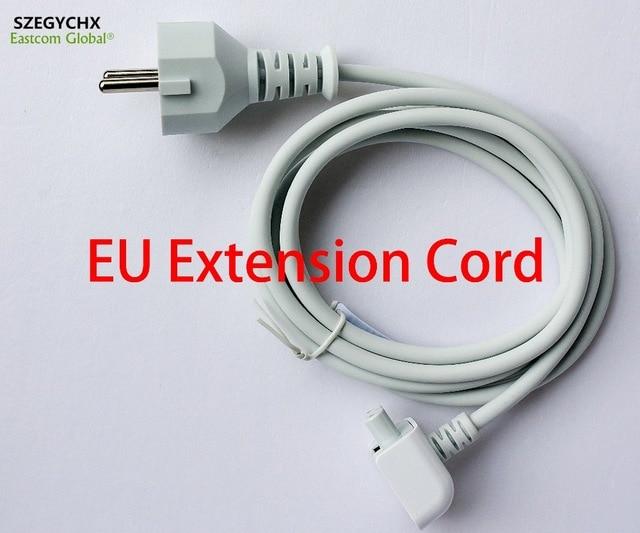 SZEGYCHX Europa Plug 1.8 M Extensão Do Cabo AC para iPad Poder UE cabo para MacBook Mag 45 w 60 w 85 w 29 w 61 w 87 w Carregador adaptador