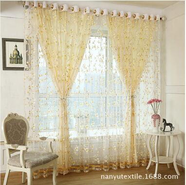 European Luxury Rich Flowers Tulle Curtains For Living Room Sheer Kitchen Window Curtain Bedroom Custom Finished In From Home Garden
