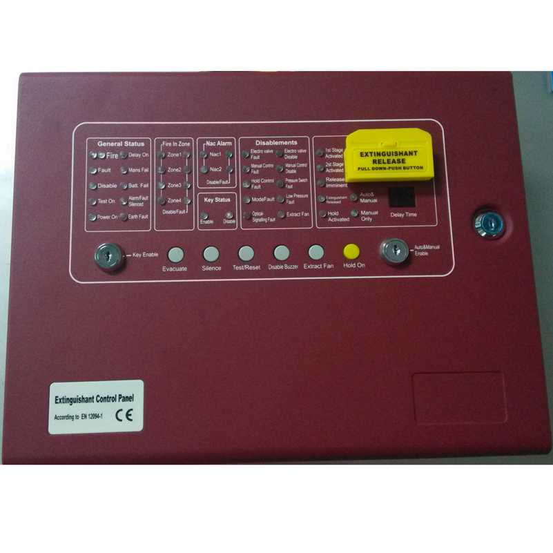 Panneau de commande automatique d'extincteur de contrôleur d'incendie de gaz de 4 zones panneau de Suppression conventionnel de panneau de lutte contre l'incendie CM1004