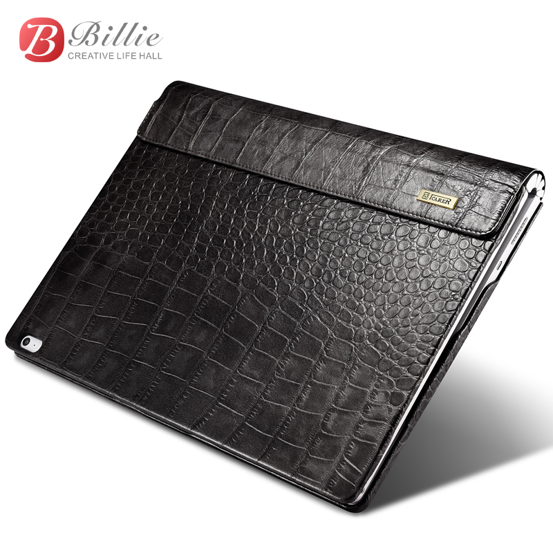 For surface book 2 case Crocodile grain Genuine Cowhide Leather case for Surface book13.5