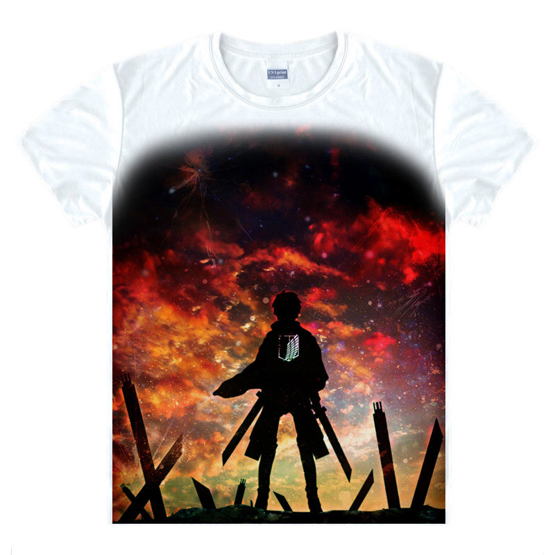 Attack on Titan T-Shirt Eren Jage Shirt Fashion printed t-shirts Collection kawaii dress summer t-shirts Japanese Anime Manga A