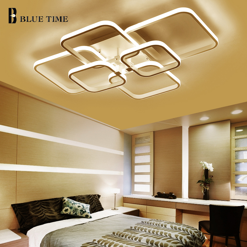Rings Modern Led Chandelier For Living Room Dining Room Bedroom Kitchen LED Lustres Led Ceiling Chandelier Lighting Fixtures