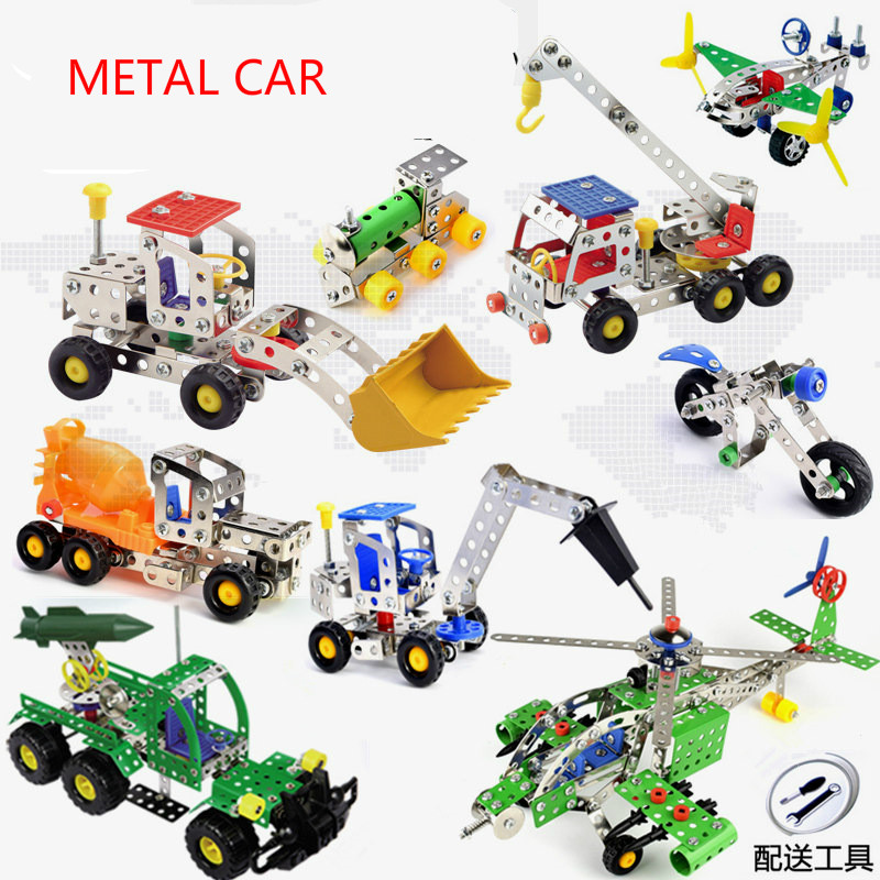 Mini Metal Assembly And Disassembly Children Enlightenment Toy Alloy Engineering Vehicle Series Model Building Block
