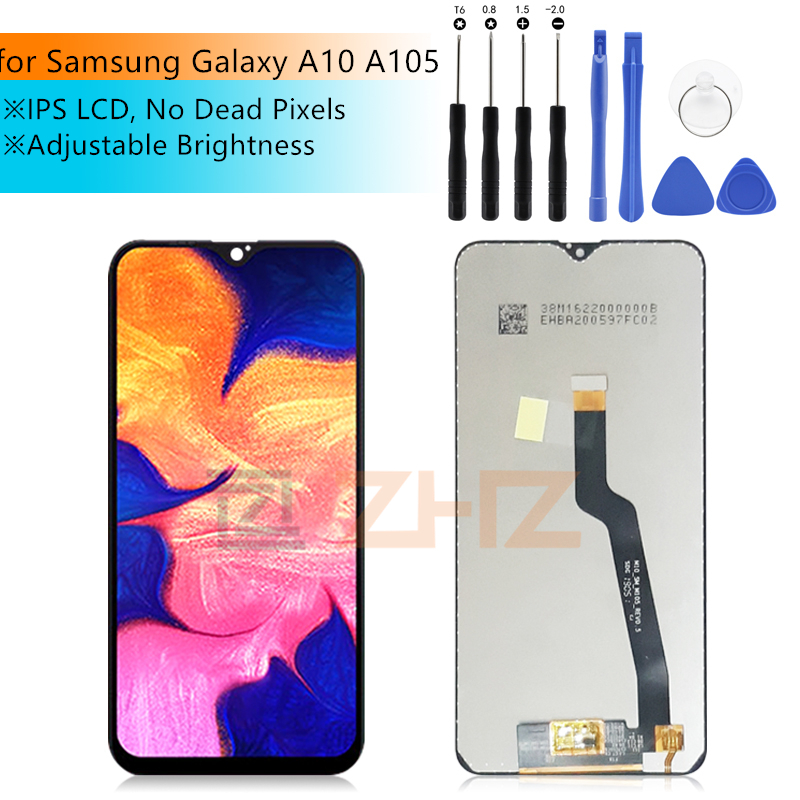 491ea5865df3ba LCD For Samsung galaxy A10 LCD Display Touch Screen Digitizer Assembly for  samsung a10 lcd 2019 A105 A105F SM-A105F Repair parts