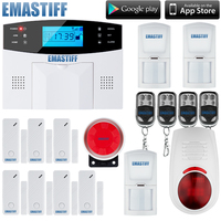 Best selling 100 wireless 8 wired,LCD screen,quad band,Support English,Russian,Spanish,French home gsm sms security alarm system