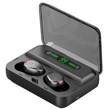 F9 5 TWS Senza Fili di Bluetooth del Trasduttore Auricolare w/Display Digitale 1300mAh Accumulatori E Caricabatterie Di Riserva