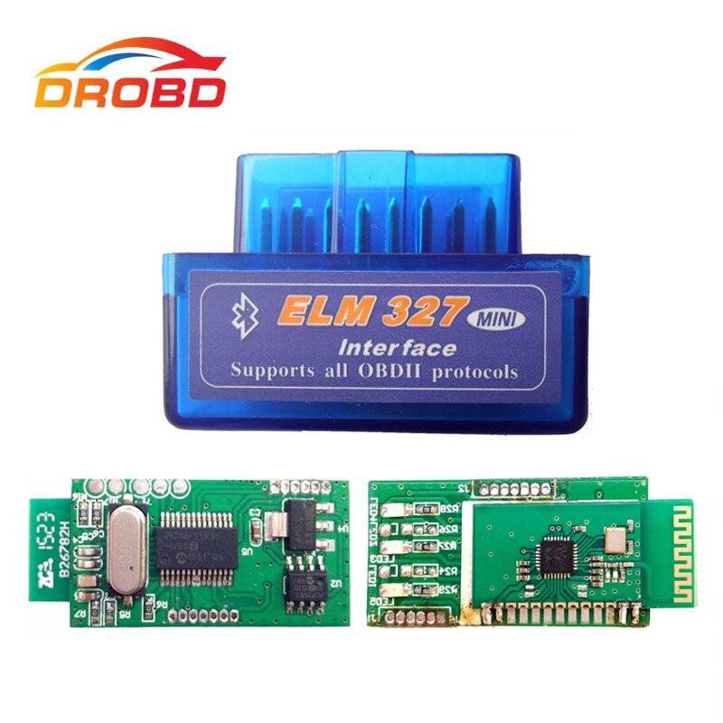 ELM327 V1.5 Super MINI Bluetooth ELM 327 Versão 1.5 Com Chip de PIC18F25K80 OBD2/OBDII para Android Torque Car Código scanner