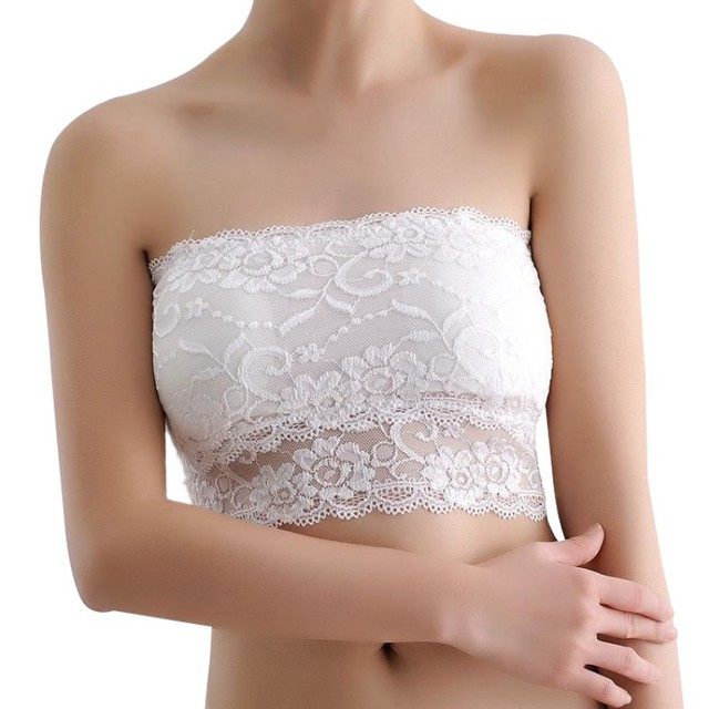 bandeau bra Women's Wrapped Chest Cloth Girls Around Breast Basic Tube Top Lace Lingerie