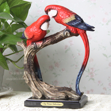Hand engraving Artwork Parrot decoration Home Furnishing jewelry creative living room cabinet TV opening housewarming gi