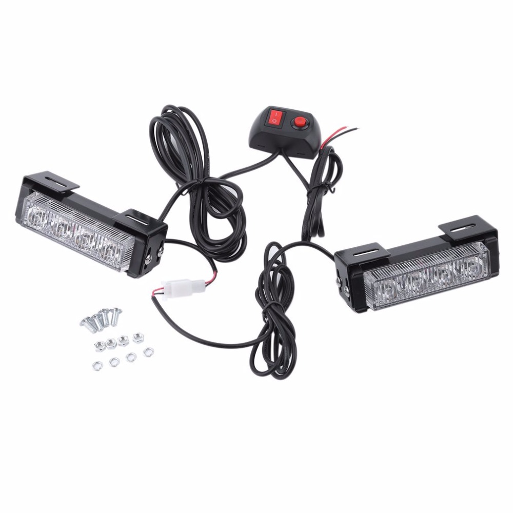 2 pcs 12v 4w ultra bright motorcycle led yellow car trunck