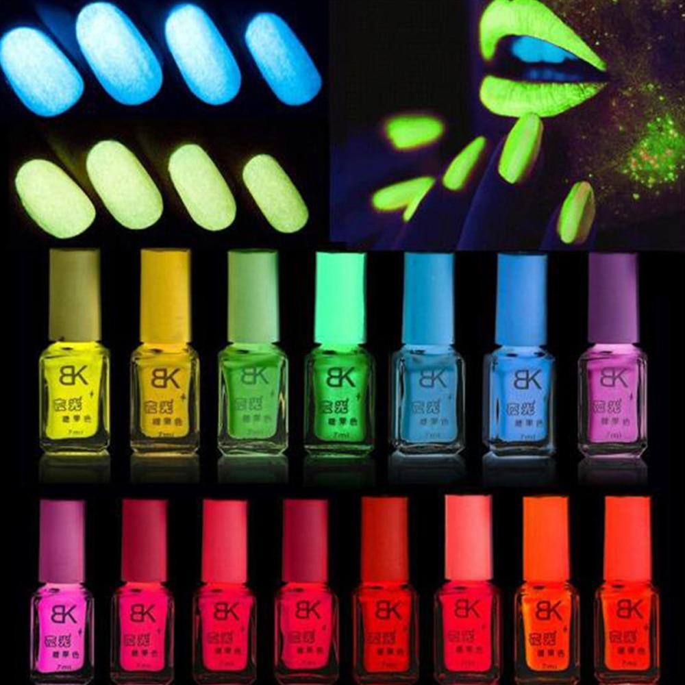 Fluorescent Neon Nail Polish: 20Colors Candy Nail Art Nagellak Nail Lacquer Luminous