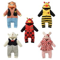2014 Autumn Spring 0 3 Old Children S Clothing Boy Firl Baby Crawling Catoon Animals Sculpt