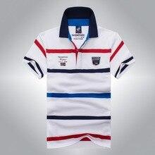 2016 Fashion business polo shirt men brand Tace & Shark polo shirt Summer style striped cotton men's solid polo shirt fashion