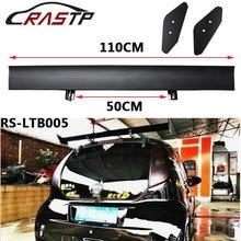 110CM 43.3Aluminum Hatchback Car Rear Spoiler Universal Black Lightweight GT Wing Racing Tail Decoration RS-LTB005