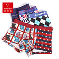 2017 Fashion Design Mens Boxer Elastic Vicose Four Style Lady Liberty Pattern Mens Underwear Shorts High Quality  Free Shipping