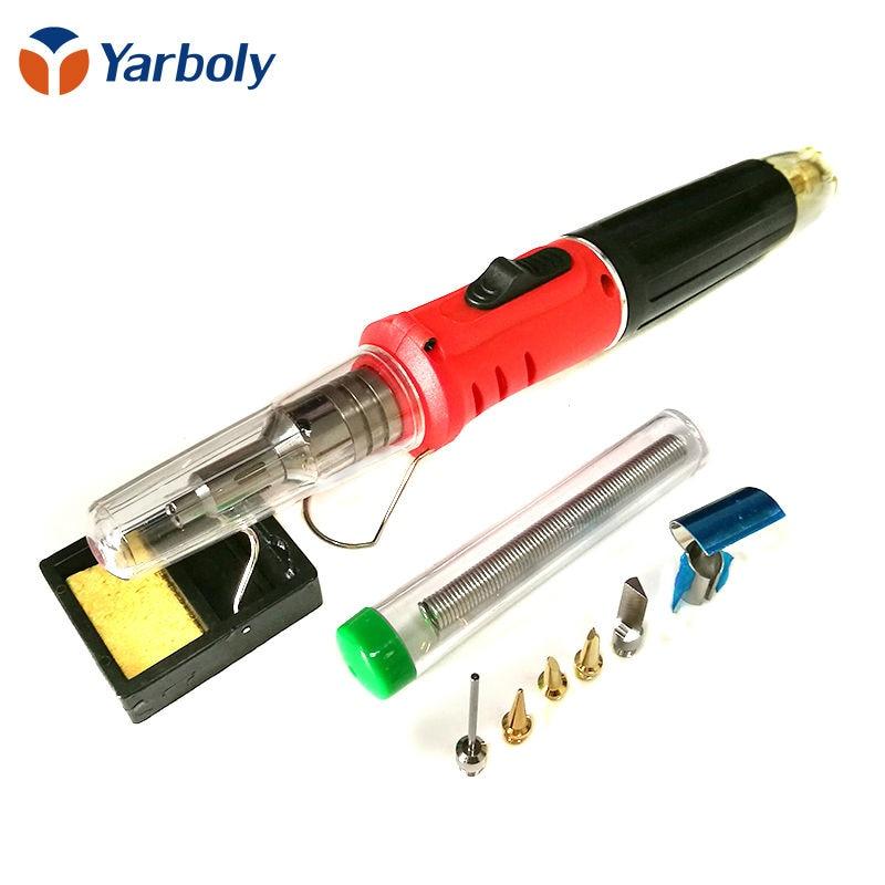 10 in 1 Professional Butane Gas Soldering Iron Kit Welding Kit Torch HS-1115K  цены