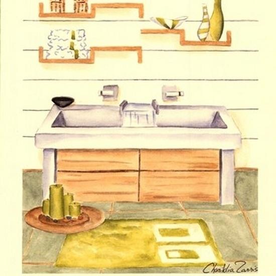 Zen Bath II Poster Print by Chariklia Zarris (10 x 13)