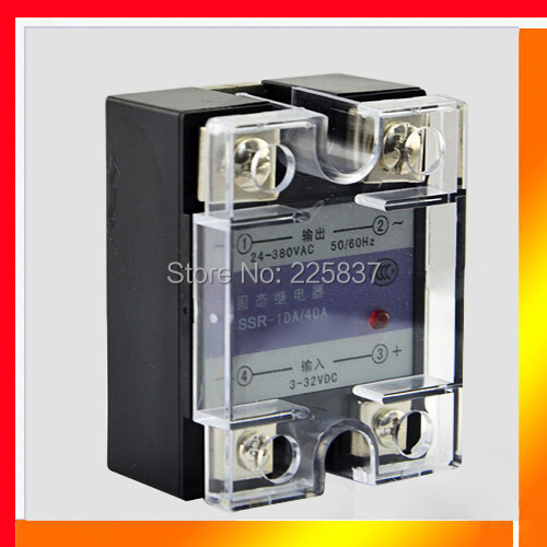 Free shipping SSR-100DA 100a rele estado solido 100A DC-AC 3-32v DC to 24-480v AC solid state relays switches single phase ssr white shell 220v 3 32v single phase solid state relay ssr dc control ac fotek 80a ssr 80da