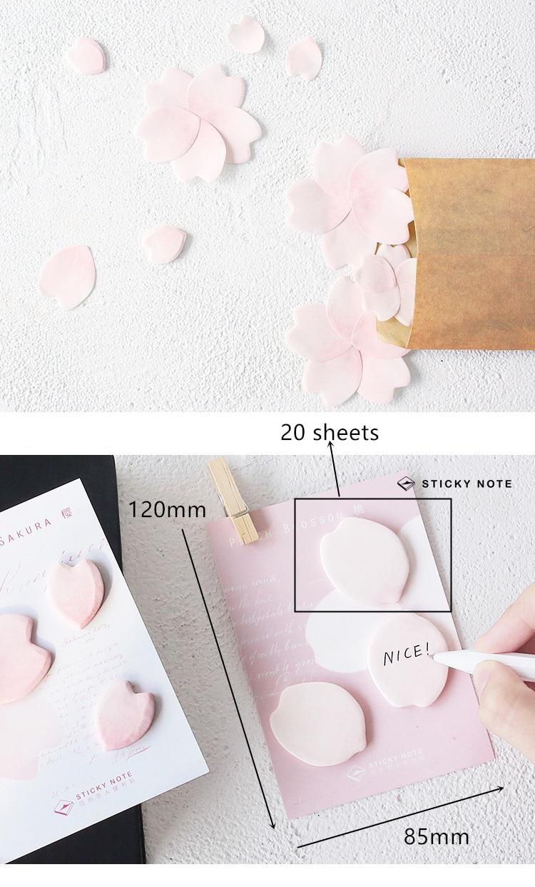 4 ədəd / Çox mini Yonca yarpaq stikeri gündəliyi Çiçək Sakura - Qeyd kitabçaları - Fotoqrafiya 2