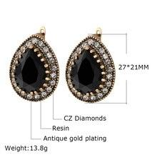 Simple Indian Jewelry 2016 Design Fashion Earrings For Women Water Drop Green Resin Earring Sale Wholesale Jewellery