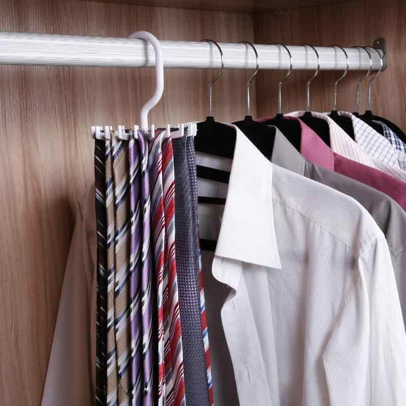 Obrotowy krawat wieszak posiada regulowany 20 hak krawaty szalik Organizer szafka kuchenna wygodne, ekonomiczne i praktyczne