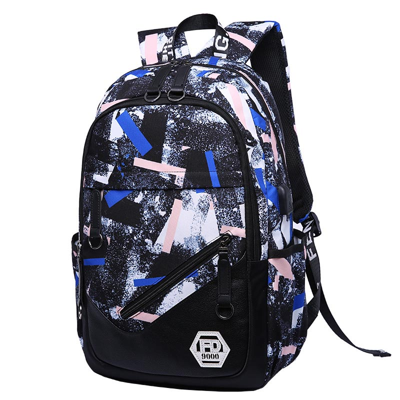 Water Resistant Oxford Fabric School Backpack for Girls Boys for Middle School Cute School Bookbag College Travel Backpack