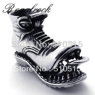 Regalrock Steampunk Bleeding Skull Teeth Snow Boots Pendant Necklace
