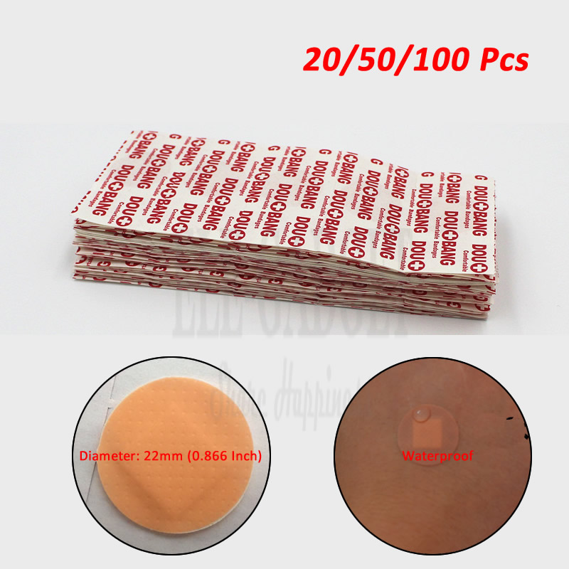 20-50-100pcs Waterproof Round Wound Adhesive Paste Band-Aid Wound Plaster For Emergency Wound Treatment First Aid Kits 30pcs pack random cartoon wound paste first aid band medical waterproof adhesive bandages wound dressing band for baby care