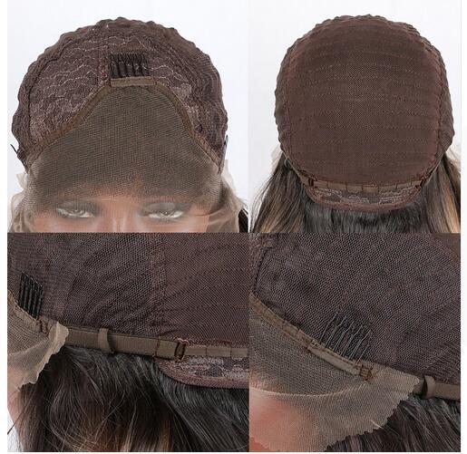 sylvia 1b svart kroppsvåg syntetisk spets främre peruker för - Syntetiskt hår - Foto 5