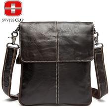 Haute qualité hommes messenger sacs de mode en cuir véritable sac D'ordinateur Portable Porte-Documents homme bandoulière sacs occasionnels d'épaule d'affaires sacs
