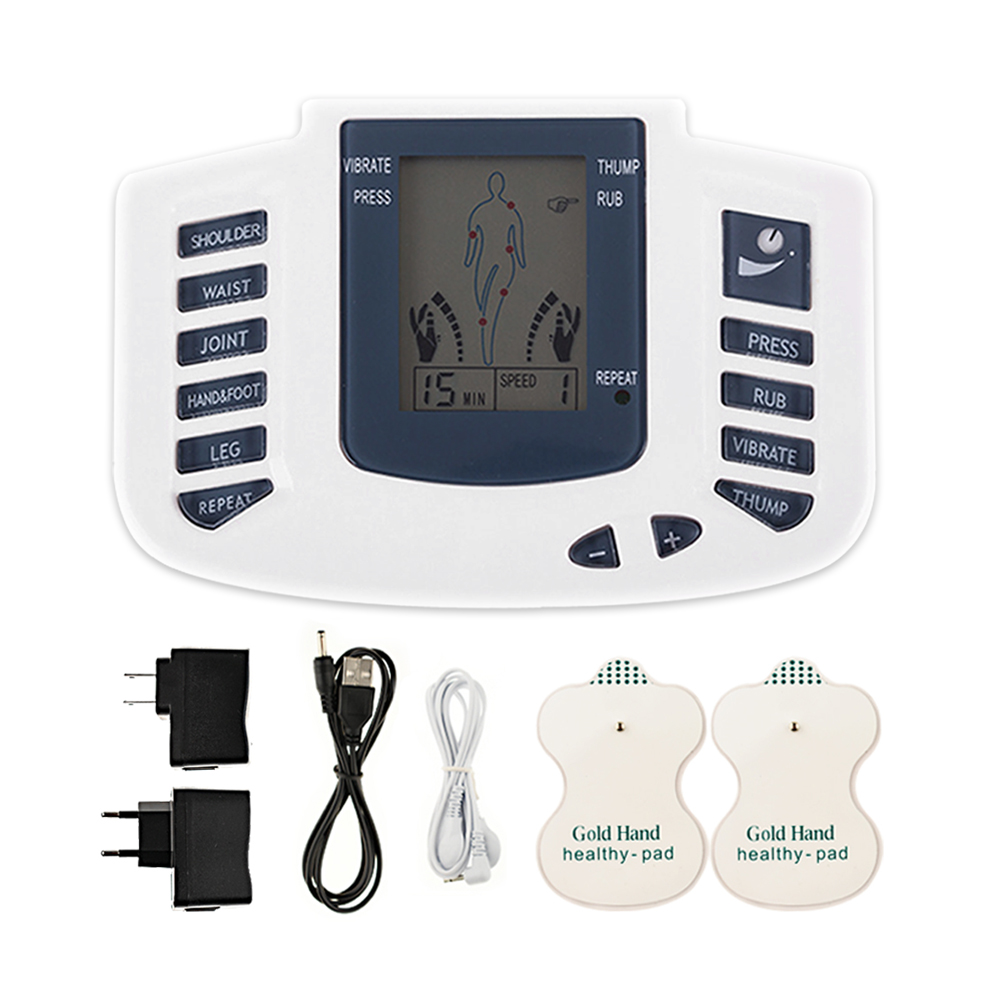 Electronic Body Slimming Pulse Massage for Muscle Relax Pain Relief Stimulator Tens Acupuncture Therapy Machine health care electronic body slimming pulse massage for muscle relax pain relief stimulator massageador tens acupuncture therapy machine