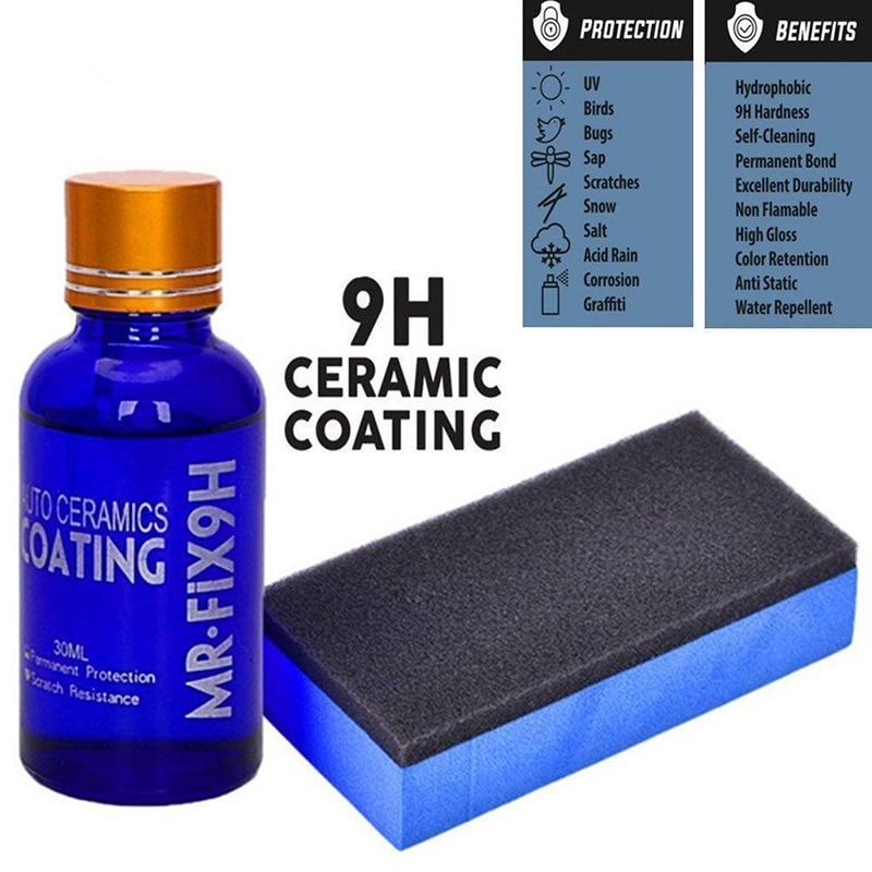 30ml Car Auto 9H Nano Practical Paint Glass Coats Cares Ceramics Liquids Wax Anti Scratch Nano Ceramic Glass Coating Liquid