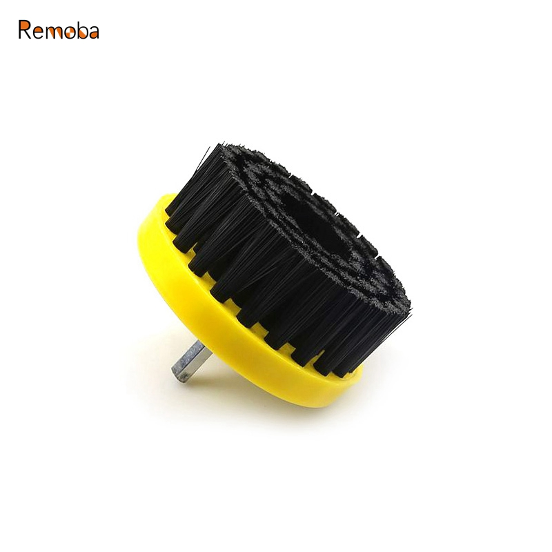Dia. 80mm Drill Power Scrub Clean Brush For Leather Plastic Wooden Furniture Car Interiors Cleaning