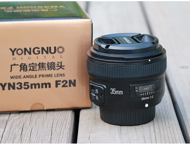 Original YONGNUO Camera Lens 35MM F2 for NIKON Large Aperture Auto Focus Lens for NIKON 7000 D5100 D5000 D3100 D3000 D60 yongnuo 35mm camera lens f 2 af aperture auto focus large aperture for nikon d5200 d3300 d5300 d90 d3100 d5100 s3300 d5000