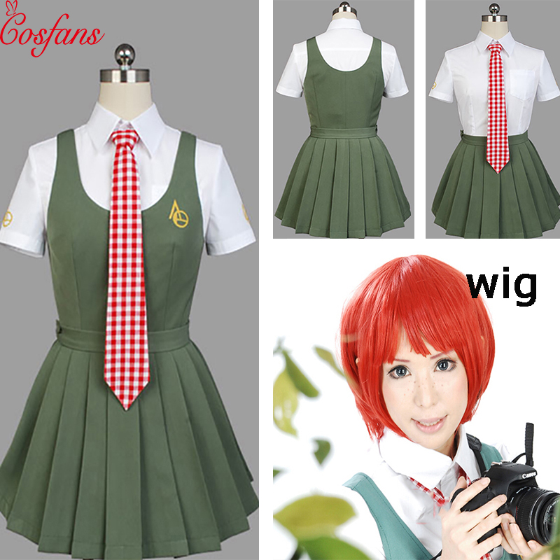 Anime Super Dangan Ronpa 2 Danganronpa Mahiru Koizumi Cosplay Costume School Uniform White Shirt Skirt For Women Costume And Wig