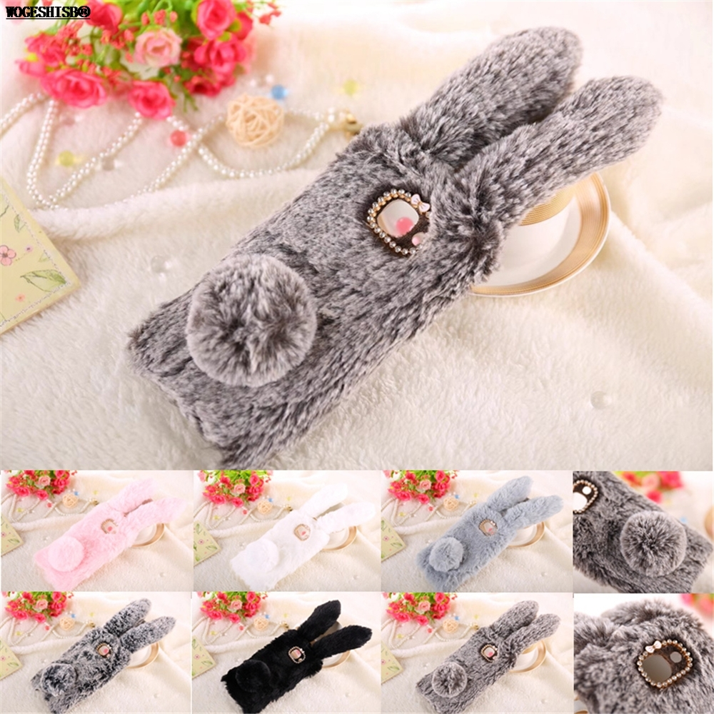 3D Rabbit Bunny Toy Case High Quality Artificial Cony Hair Soft TPU Cover for Samsung Galaxy 2017 J7 Max J7max 5.7 inch