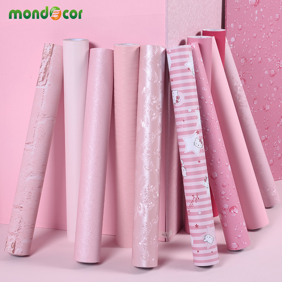 Girls Pink Peel and Stick Wallpaper for Bedroom Decor Living Room Wall Stickers Home Decor Vinyl Contact Paper for Kitchen Desk