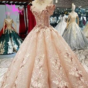 Image 1 - AIJINGYU suknie ślubne sklep internetowy kup suknie ślubne 2021 2020 sklep muzułmanin matka suknia ślubna biała sukienka balowa