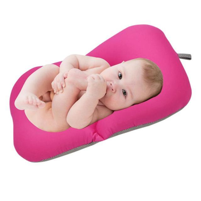 Foldable Baby Bath Tub Baby Float Bath Mat Seat Antiskid Blooming ...