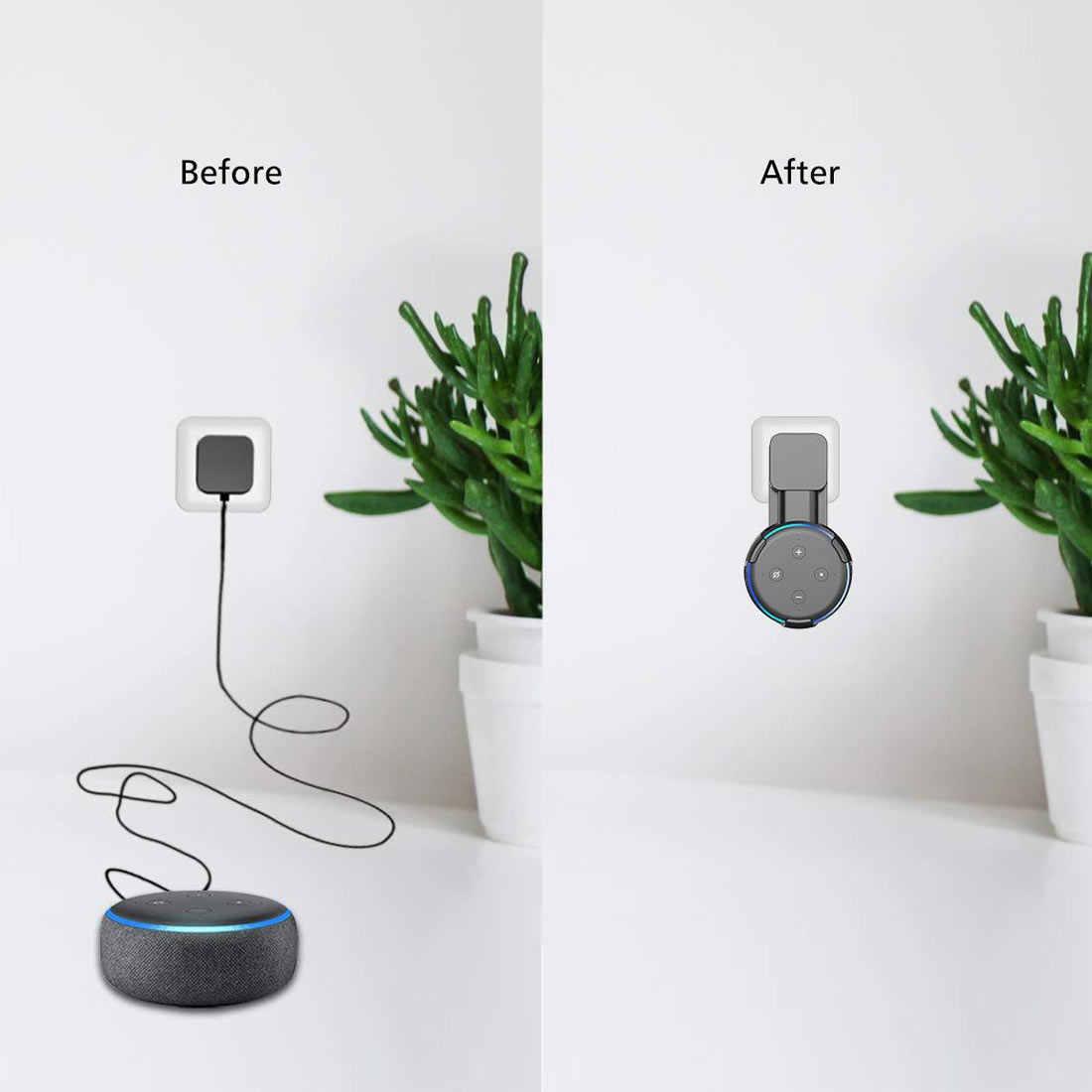 Yeni varış akıllı ev ev otomasyonu Homekit abd Mini Outlet duvar siyah beyaz artMount standı askı tutucu Google ev Mini