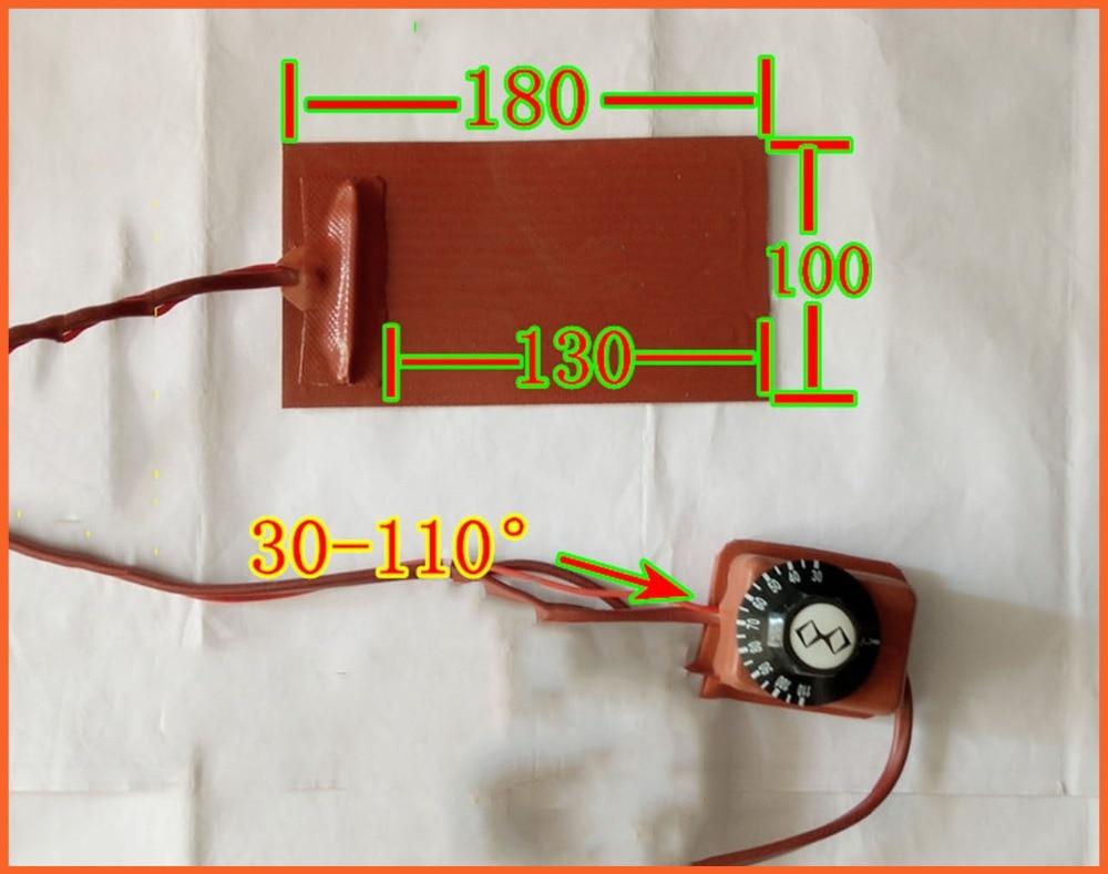 180*100mm 220V 1.8MM Knob temperature control FPB split screen treasure mobile flexible panel heating plate Silicone Heater