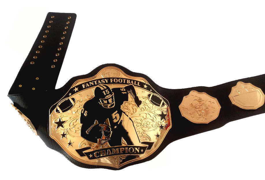 6458d56f2 Fantasy Football Champion Belts Black   Gold Stiff Arm-in Sports Souvenirs  from Sports   Entertainment on Aliexpress.com